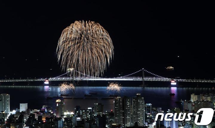 어제 부산불꽃축제 사진 이미지 모음