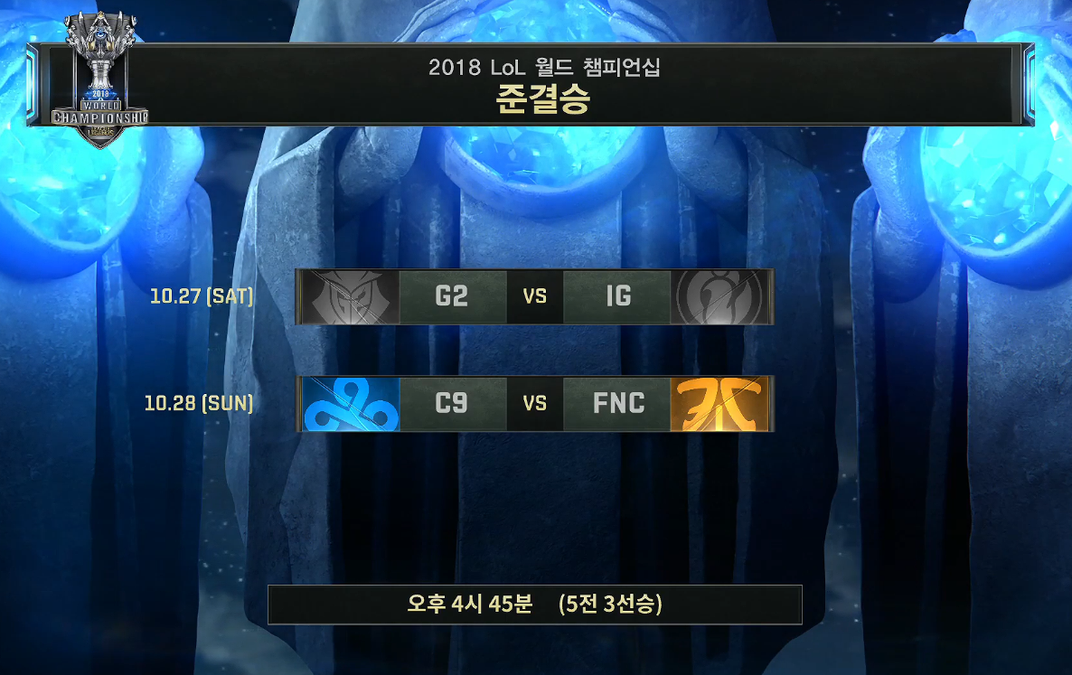 [LOL]2018 World Championship 4강 토너먼트..