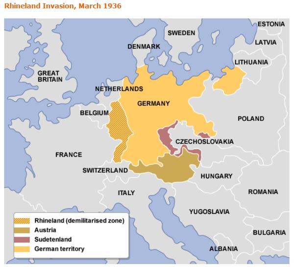 [36년]히틀러의 라인란트 점령과 루마니아의 대응?