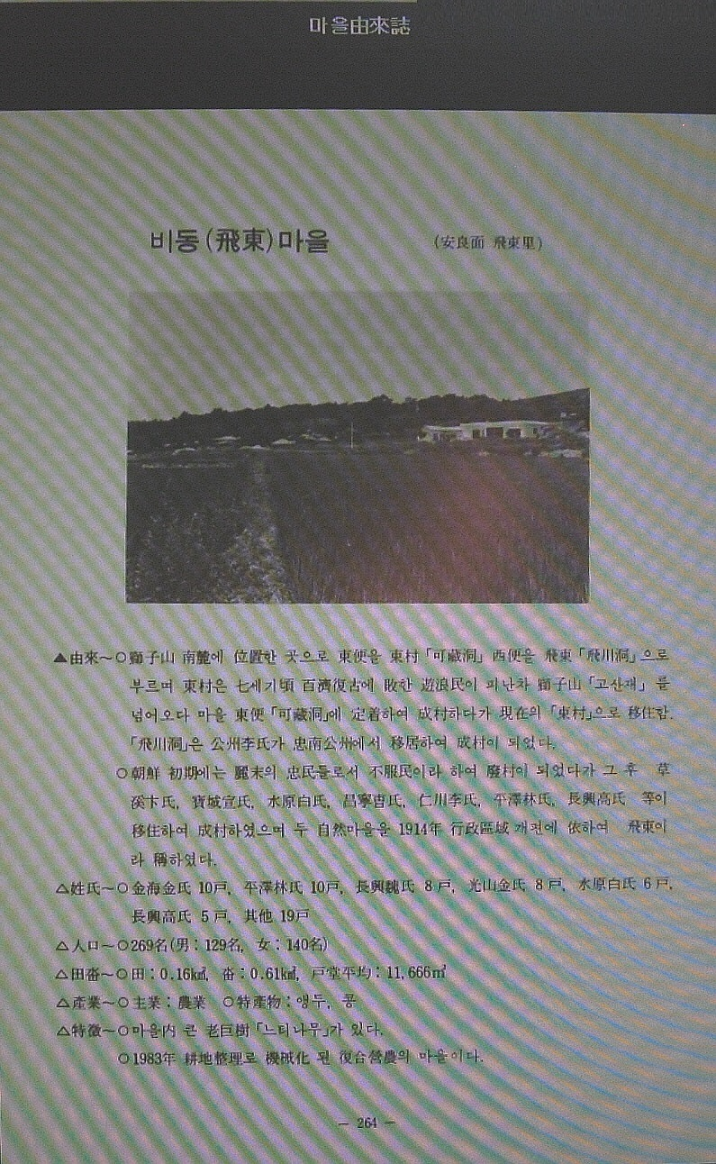 임영립 장흥군(長興郡) 안양면(安良面) 飛東里의..