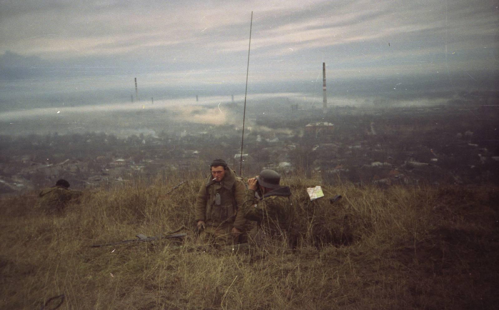 체첸전 당시의 JTAC 임무수행중인 러시아 병사들
