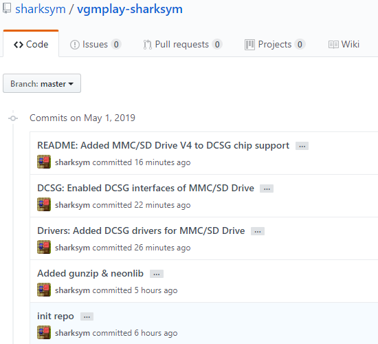 VGMPlay - MMC/SD Drive V4 DCSG 코드 추가