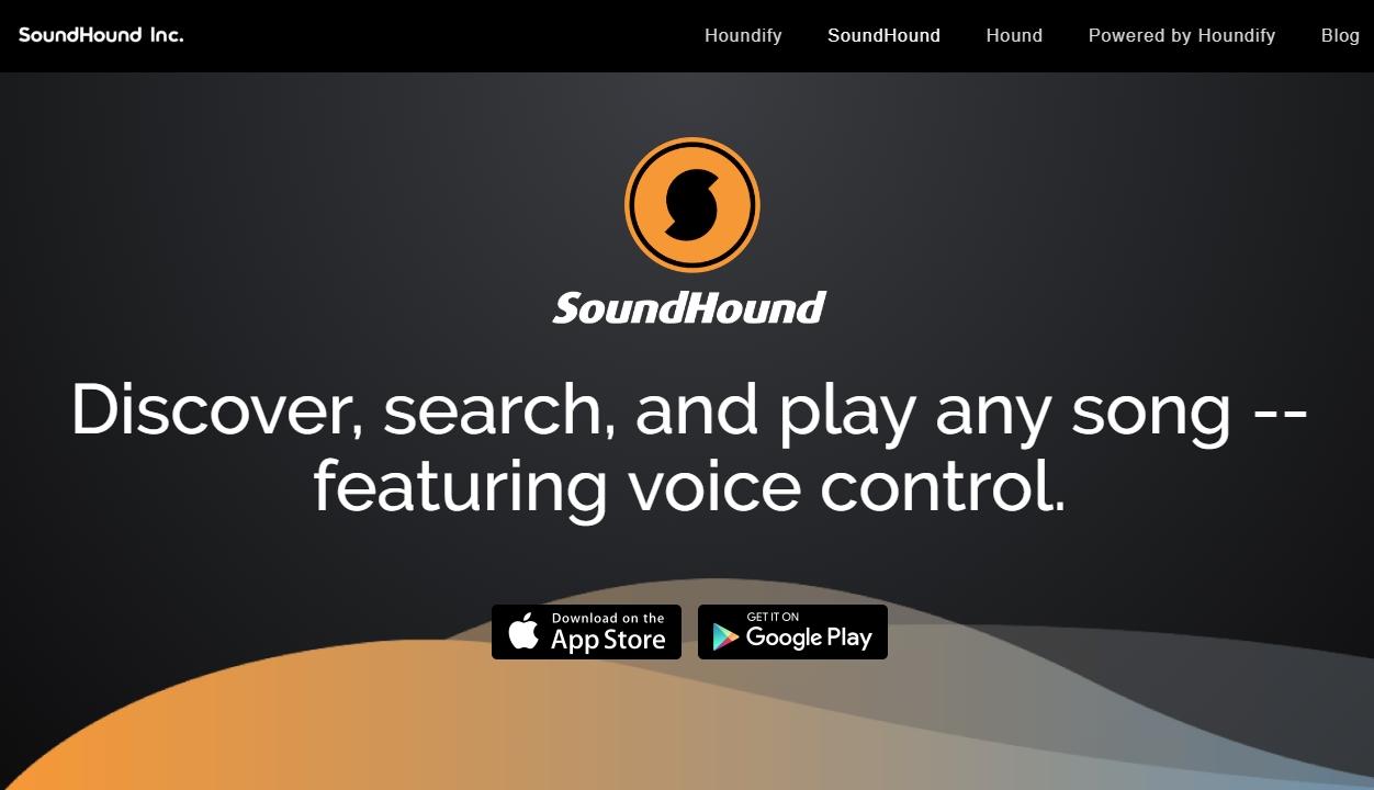 사운드 하운드 - 허밍, 휘파람으로 음악 검색 어플