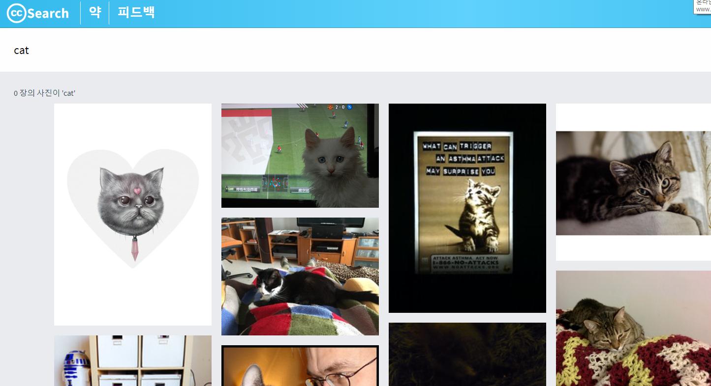 공유 라이센스 이미지 검색 엔진, CC 서치 오픈
