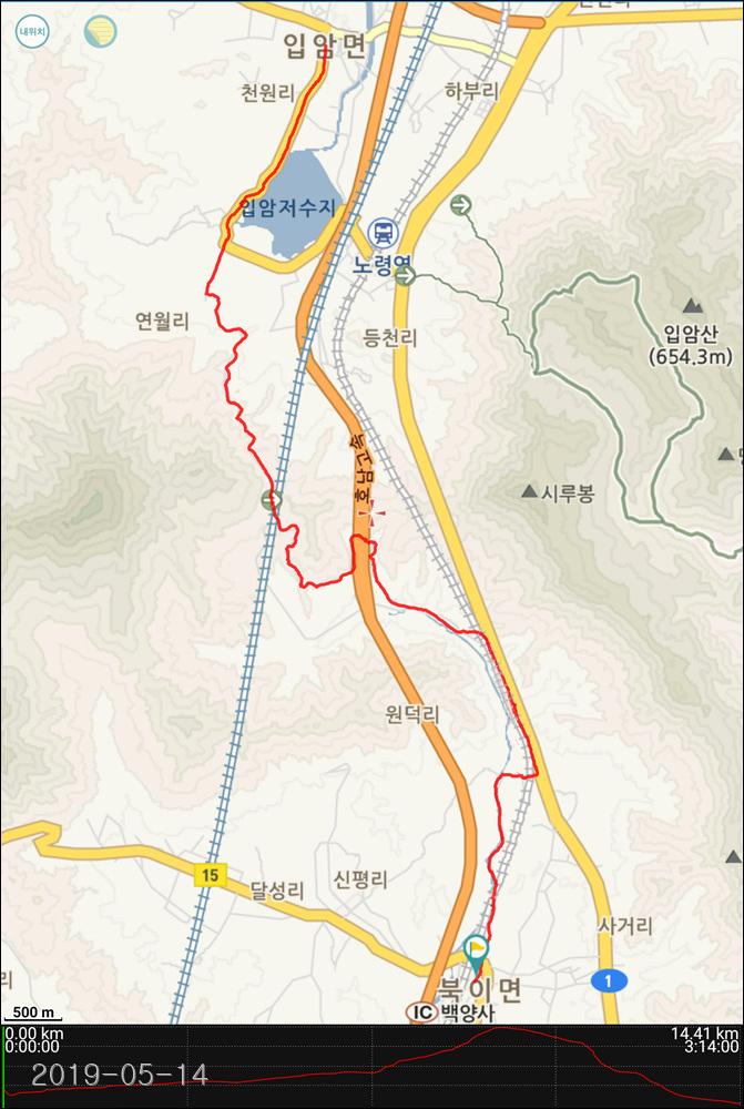 코리아 트레일 16구간(백양사역~입암파출소)...